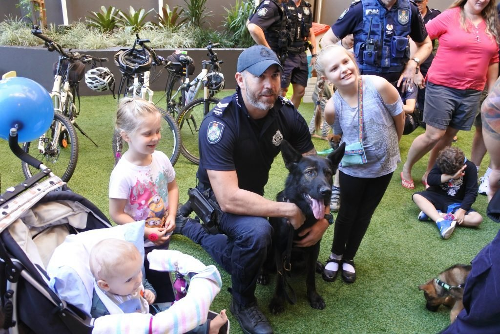 Police, puppies and bikes, oh my!