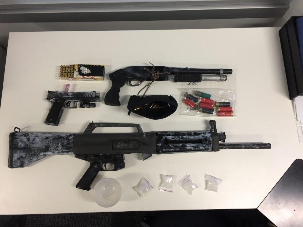 Guns, ice and cash seizure, Trinity Beach - Queensland Police News