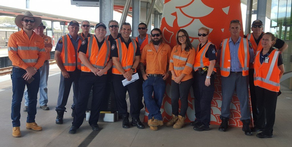 Emergency services visit Moreton Rail Link